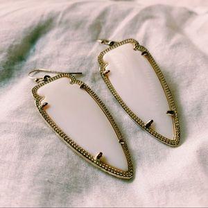 Kendra Scott White Mother of Pearl Skylar earrings